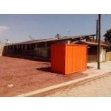locação de container preço Arajua